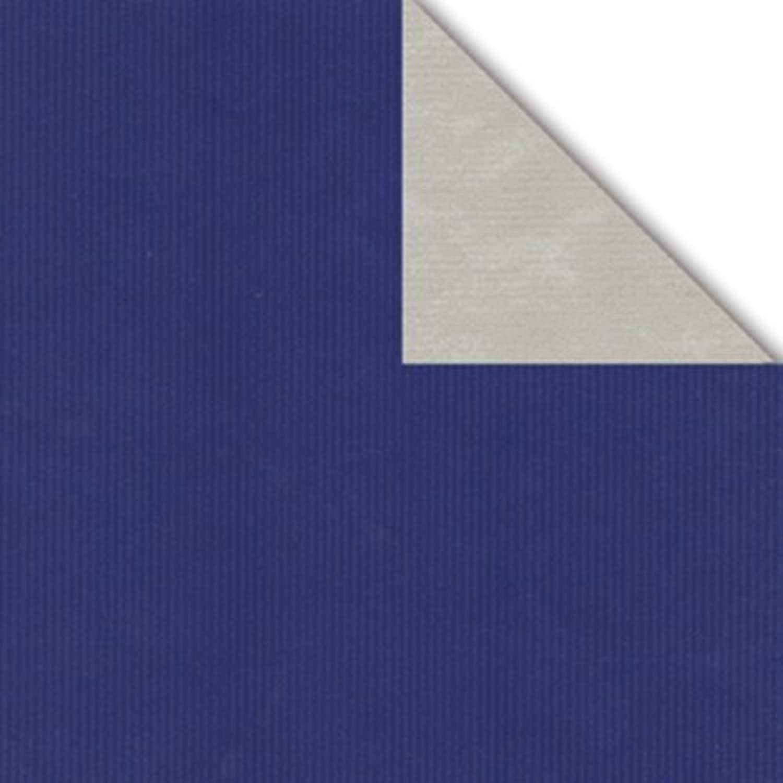 Geschenkpapier Geschenkpapier Geschenkpapier Rolle 2-seitig blau silber 50cm x 50m B00DL0JQ0Q | Export  dfaae4