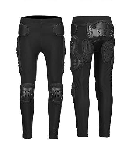 Phciy Pantaloni per Armatura Integrale per Motociclisti Protezione per Ginocchia Protezione per Motocross ATV Tute per Sci da Snowboard Sci Snowboard Ciclismo,Nero,L
