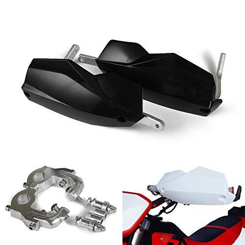 AnXin Protège-mains universels 22 mm 28 mm pour moto Dirt Pit Bike Street Bike Motocross Supermoto Racing ATV Quad Kayo (Noir)