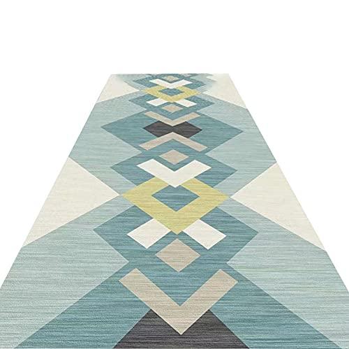 Alfombra moderna geometría para pasillo de 300 cm, 400 cm, 500 cm, 600 cm, 700 cm, 800 cm de largo, apto para bebés y mascotas (color: estilo 1, tamaño: 100 cm de ancho x 800 cm)