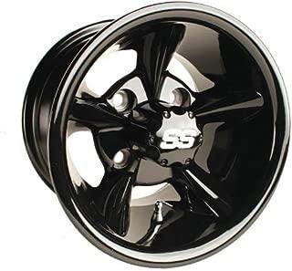 Godfather Aluminum Mag Golf Cart Wheel (Sold as Single Unit) (12x7, Gloss Black)