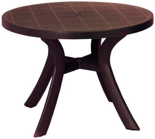 BEST 18511010 Tisch Kansas rund, Durchmesser 100 cm, braun