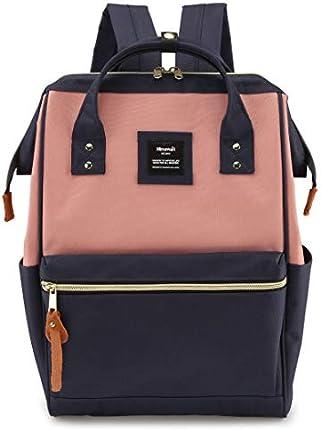 Mochila Himawari de viaje, con puerto de carga USB, bolsa grande para pañales, bolsa de médico, mochila escolar, unisex, XK-05#-USB L), L-USBBlack Stripe