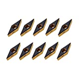 Vástago Torno de inflexión Portaherramientas 10pcs VBMT160404 inserción de carburo de SVJBR2020K16 Volviendo Porta-herramienta CNC Fresado Herramienta cuchilla de torno Herramientas de corte
