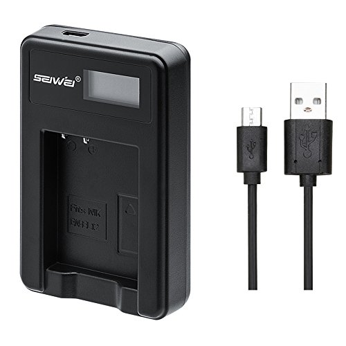 NIKON EN-EL12 対応新型USB充電器 バッテリーチャージャー LCD付 4段階表示仕様 MH-65 Coolpix S9900, S9700, AW120, S9500, AW110, S70, S9600, S6300, S6200, S8100, S9100, S800c, S31 Digital Cameras対応 (NIKON EN-EL12対応)