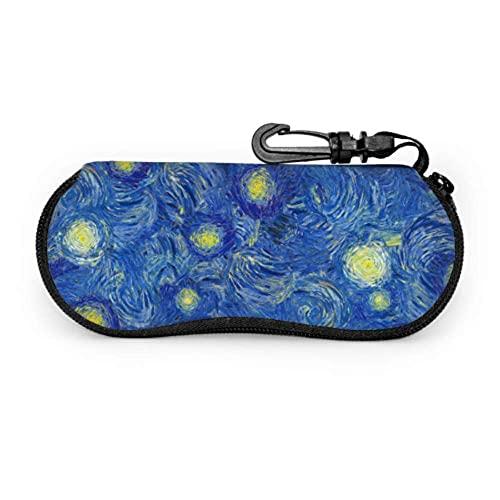 Estuche para anteojos Estuche para anteojos de sol para niños estilo Van Gogh amplio y abstracto Estuche para anteojos de sol Estuche para anteojos para niños, ligero, portátil, suave, 17x8cm
