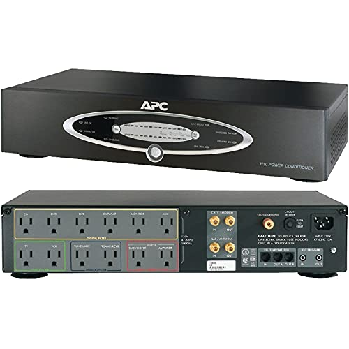 APNH10BLK - APC H10BLK 12-Outlet H-Type Rack-Mountable Power Conditioner with Coaxial Protection