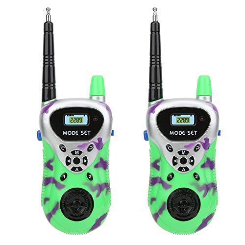 2 stücke Walkie Talkies für Kinder Mini Funksprechgerät Walkie Talkie Spielzeug Drahtlose Kommunikation Eltern Kind interaktives Spielzeug für Kinder(Grün)