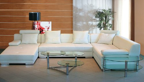 Hot Sale 3334 Modern White Leather Sectional Sofa