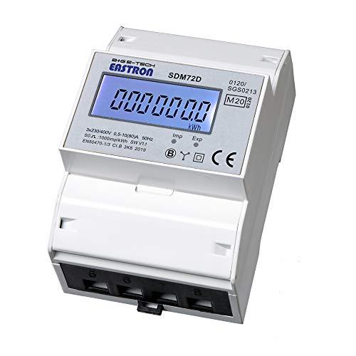 SDM72D-MID - geeichter digitaler Drehstromzähler für Hutschienenmontage, direktmessend 10(80) A mit S0