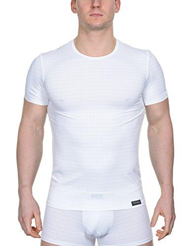 Bruno Banani Herren Unterhemd Shirt Check Line, Gr. X-Large (Herstellergröße: 7), Weiß (weiß karo 1612)