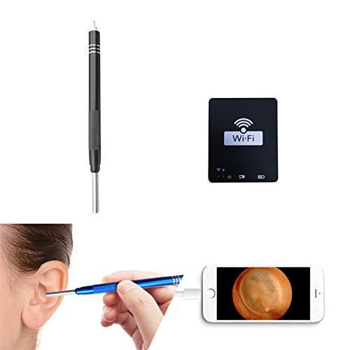 Kit Pulizia Orecchio, Otoscopio Per Orecchio WIFI, Detergente Visivo Per Orecchio Per Microscopio Digitale USB, Adatto Per Android, Huawei, Apple, Computer, Tablet,Black