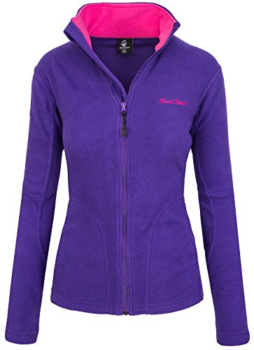 Rock Creek Damen Fleecejacke Fleece Jacke Übergangs Jacke Sweatjacke D-389 [Purple S]