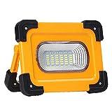 DLILI luz Trabajo batería led, Foco construcción Recargable LED 60W, Foco Trabajo con imán, 3 Modos luz, Banco energía...