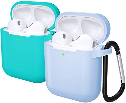 Laffav AirPods 2 1 Case for Women Men Front LED Visible Soft Silicone Protective Cover Skin product image