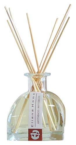 Eliana Home Difusor con Varillas de 100 ml antitabaco, Aceites Esenciales aromatizados, 6.50x6.50x16.00 cm