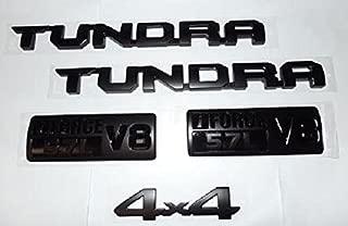 OEM TOYOTA TUNDRA BLACK-OUT SOLID EMBLEM SET OF 5 (NOT OVERLAYS) W/ 4X4 EMBLEM