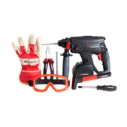 GOWI 556-12 Bohrhammer Professional Set, KofferSpielwerkzeug, 14 teilig
