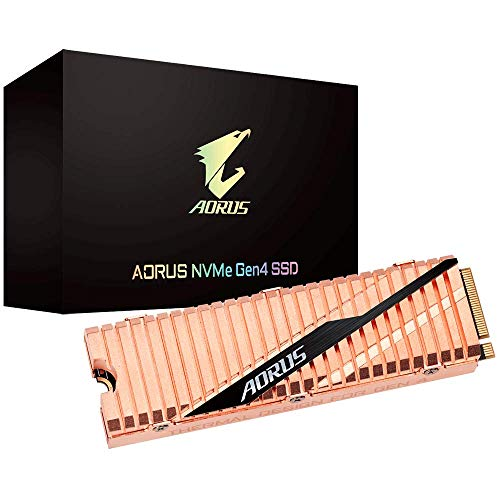 Gigabyte AORUS Nvme Gen4 M.2 500GB PCI-Express 4.0 Interface High Performance Gaming, Full Body Copper Heat Spreader Toshiba 3D NAND DDR Cache Buffer 5 Jahre Garantie SSD GP-ASM2NE6500GTTD