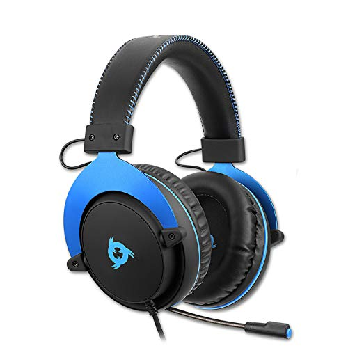 KLIM Rush - Xbox One Headset mit Mikrofon + Kompatibel mit PC Mac PS4 Nintendo Switch iOS Android + 3,5 mm Klinkenstecker + Gaming Kopfhörer + Komfortables und einstellbares Gaming Headset + NEU 2021