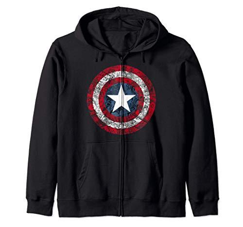 Marvel Captain America Avengers Shield Comic Sweat à Capuche