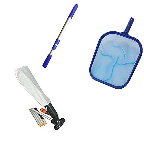 SUDS-ONLINE Swimming Pool Vacuum Cleaner & Pool Skimmer Net Set with...