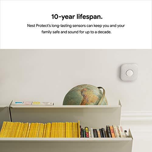 Google S3000BWES Nest Protect Alarm-Smoke Carbon Monoxide Detector, 1,...