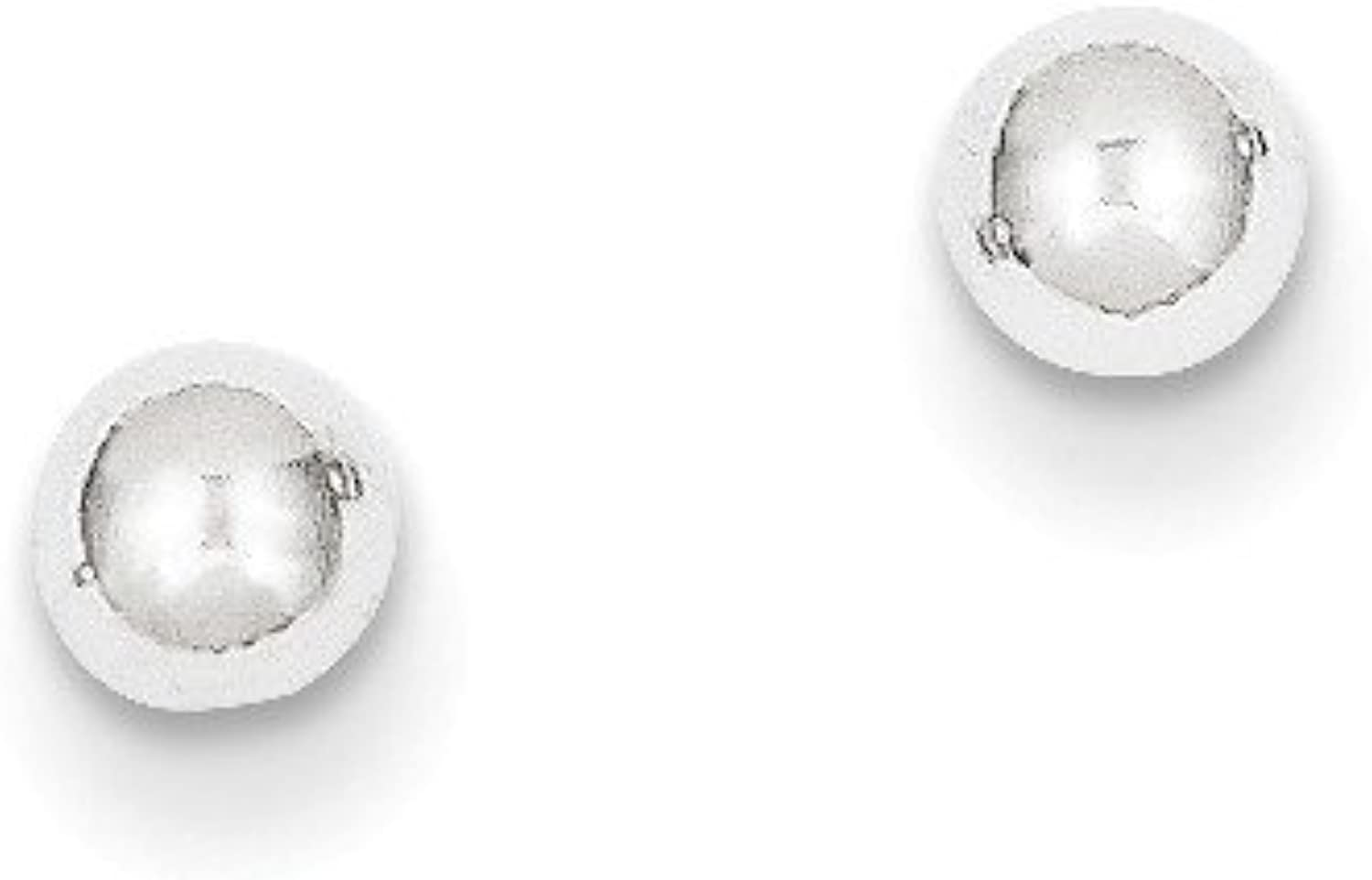 Beautiful White gold 14K 14k White gold Polished 4mm Ball Post Earrings