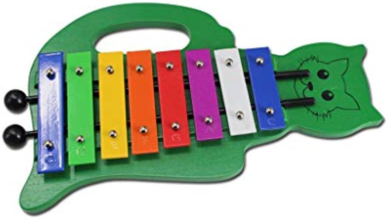 LINGLINGklopfen am klavier Anklopfen auf die CartoonXylophonKinderMusikspielzeugOktave kann Nicht mitgenommen Werden (Farbe   Green)