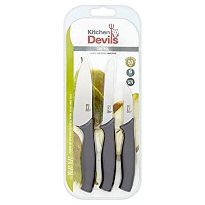 Kitchen Devils Control Starter Set, Stainless Steel, Black, 3 PCE from Fiskars