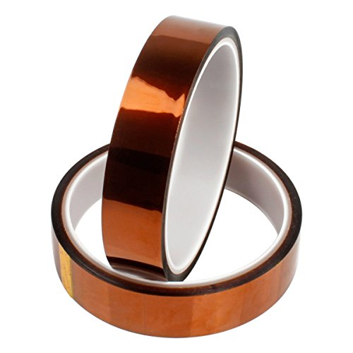 Heat Resistant Tape, PAMISO 2 Packs 4/5 inches X 108ft High Temp Heat Tape for No Residue Heat Transfer Mugs/Vinyl Heat Press/3D Printers/PCB Protector