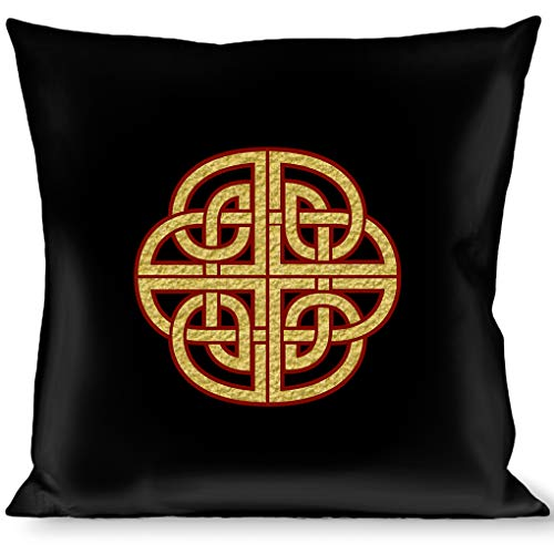 Pillow Decorative Throw Celtic Knot Black Burgundy Gold