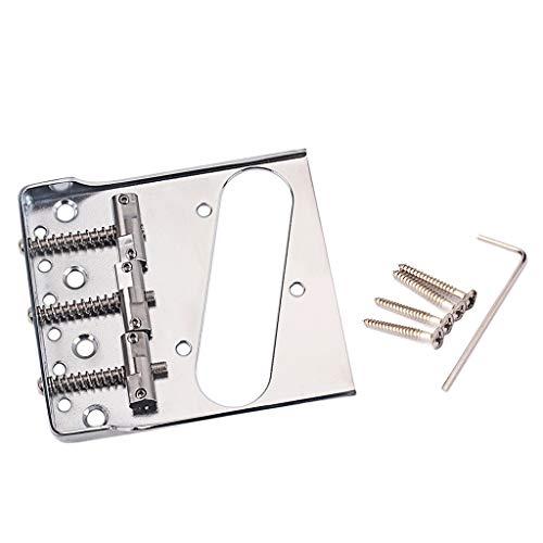Iycorish 1 StüCk Vintage Style Fixed Tele E-GitarrenbrüCke mit S?Tteln für TL Bridge
