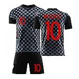 GLJJQMY Camiseta de los Hombres de Croacia Copa del Mundo Jersey Ropa Deportiva Pantalones Cortos de Manga Corta Traje de Entrenamiento de fútbol Camiseta de Baloncesto (Color : B, Size : XX-Large)