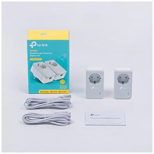 TP-Link TL-PA4010P Kit Powerline con enchufe adicional, AV 600 Mbps en Powerline, 1 puerto ethernet, homeplug AV, sin… 5