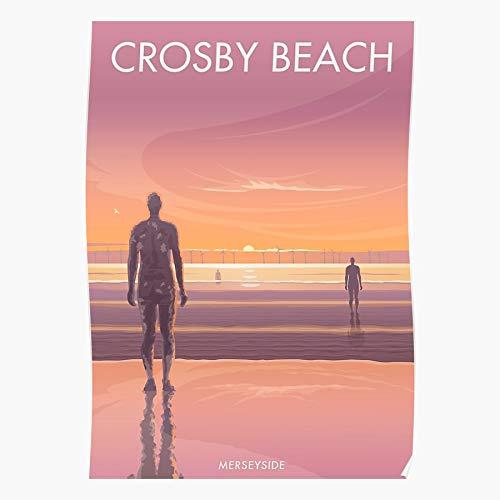 Generic Merseyside Coast Seascape Crosby North Liverpool Sunset Beach West Home Decor Wandkunst drucken Poster !