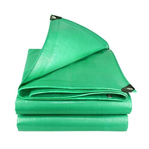 Solamlya Resistente Impermeable Multi-propósito Lona Alquitranada,con Protección UV Y Resistente A La Intemperie Lona Cubrir,con Ojales Lona Alquitranada para Muebles Cubierta Exterior-Verde 4x10m