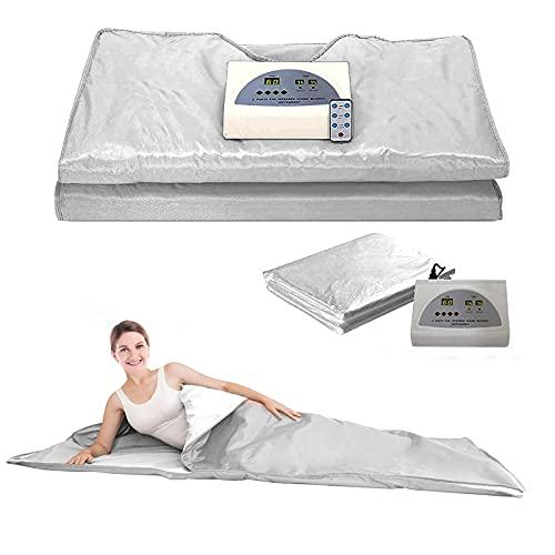 InLoveArts Infrared Personal Sauna Blanket, 2 Zones Digital Far-Infrared...