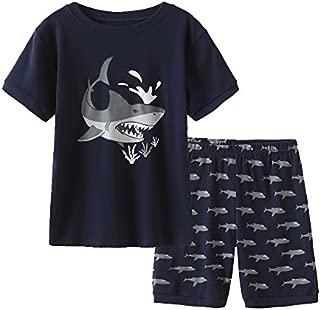 Image of Boys Shark Pajama Shorts Set - See More Fun Designs