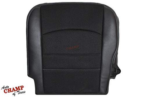 Auto Champ Of Texas: Compatible With - 2013-2018 Dodge Ram 1500 Sport-Driver Side Bottom Cloth/Leather Seat Cover Black