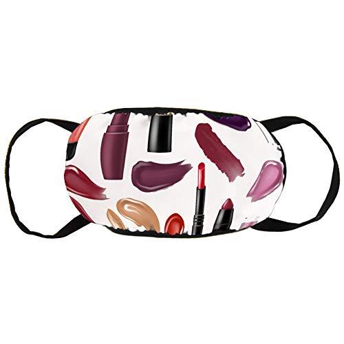 Stofvervuilingsmasker, lippenstift mascara, zwart oor puur katoen masker, geschikt voor mannen en vrouwen maskers