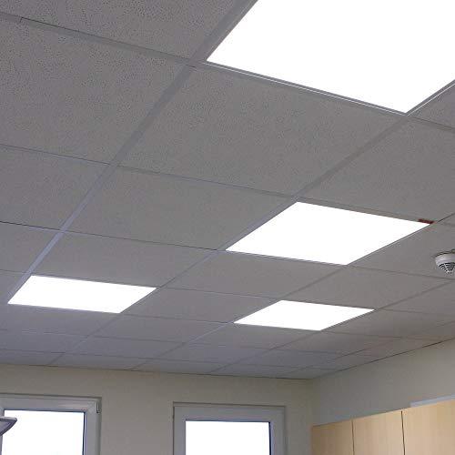 Flaches LED-Panel 45W | Deckenpanel Einlege-Panel weiß | Wohnraumleuchte LED 4000 Kelvin neutralweiß tageslichtweiß| LED-Deckenlampe + Spannungsprüfer