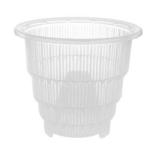 Mrinb Vasi per Orchidee in plastica Trasparente con Fori, Contenitore di Piante carnose - 10 cm   12 cm   15 cm
