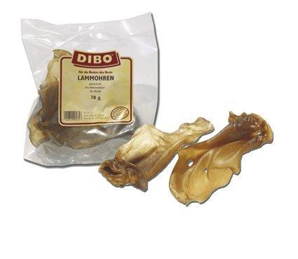 DIBO Lammohren, 70g-Beutel, der kleine Naturkau-Snack oder Leckerli für Zwischendurch, Hundefutter, Qualitätskauartikel ohne Chemie