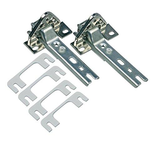Türscharnier Set 2x Scharnier Ersatz für Siemens Bosch 00268698 268698 Miele 2285121 passend für diverse Tür Kühlschrank/Gefrierschrank von AEG/Bauknecht/Neff