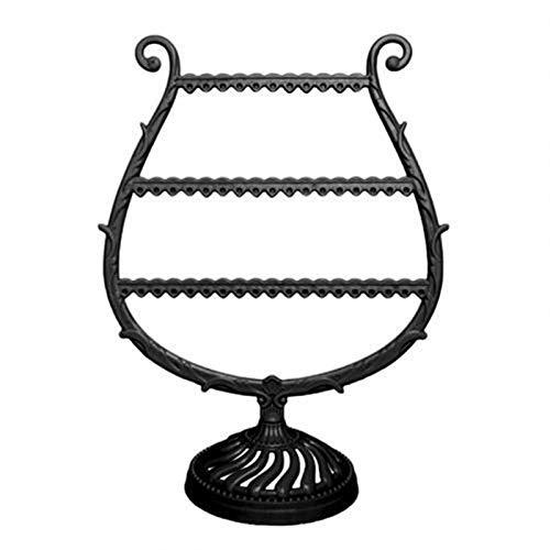 Caja de joyería Organizador de pendiente en forma de arpa / Soporte de joyería Display Soporte de rack Organize Dangle and Hoop Pendientes Almacenamiento Joyería Organizador Regalo Organizadores de ca