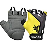 Kobo WTG-28-LARGE Weight Lifting Gym Gloves Hand Protector for Fitness Training