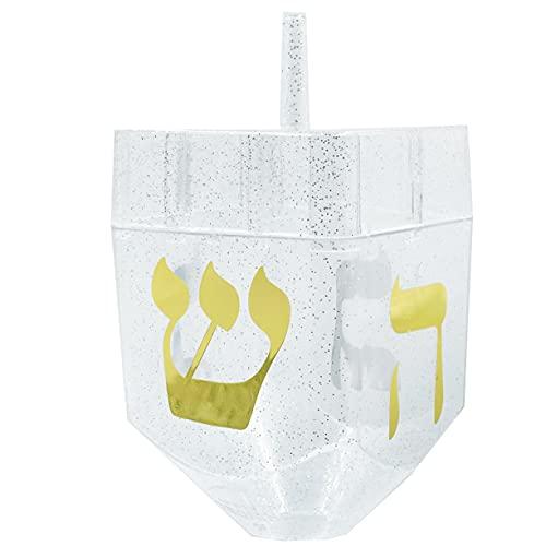 Jumbo Hanukkah Fillable Dreidel Assorted Colors Can Be Filled with Hanukkah Gelt Or Hanukkah Chocolate (Single)
