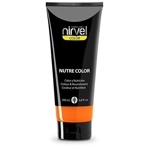 Nirvel NUTRE COLOR FLUOR Mandarina 200 mL Mascarilla Profesional - Coloración temporal - Nutrición y brillo