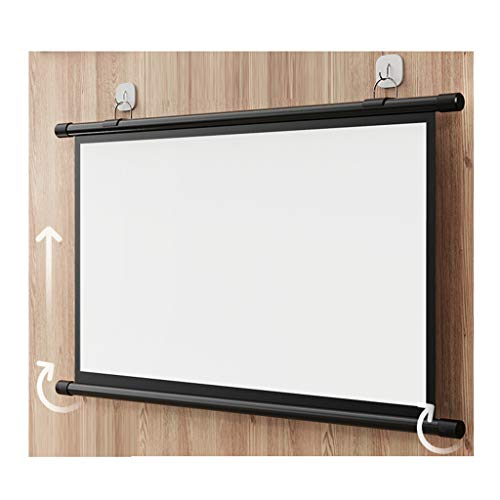 YUNGE Projector Screen Manual Pull Down HD Screen for Home Cinema Theater Presentation Education Outdoor Indoor Public Display,16:9-120inch
